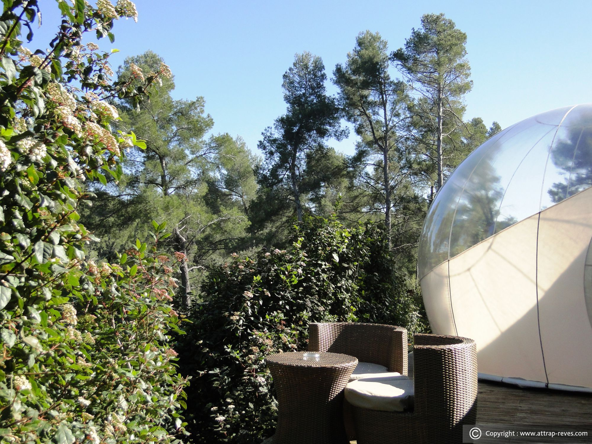 ATTRAP'RÊVES BUBBLE HOTEL at Allauch for an unusual night ...